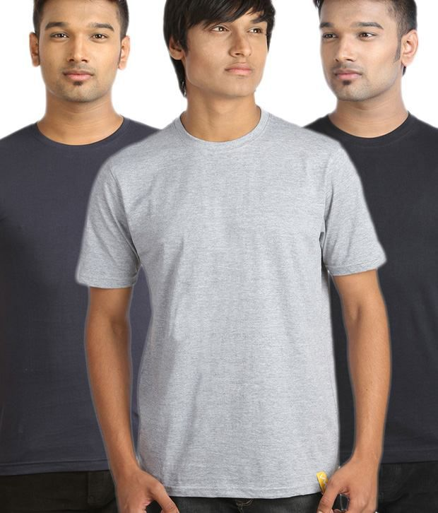 Campus Sutra Amazing Multicolour Pack Of 3 T-Shirts