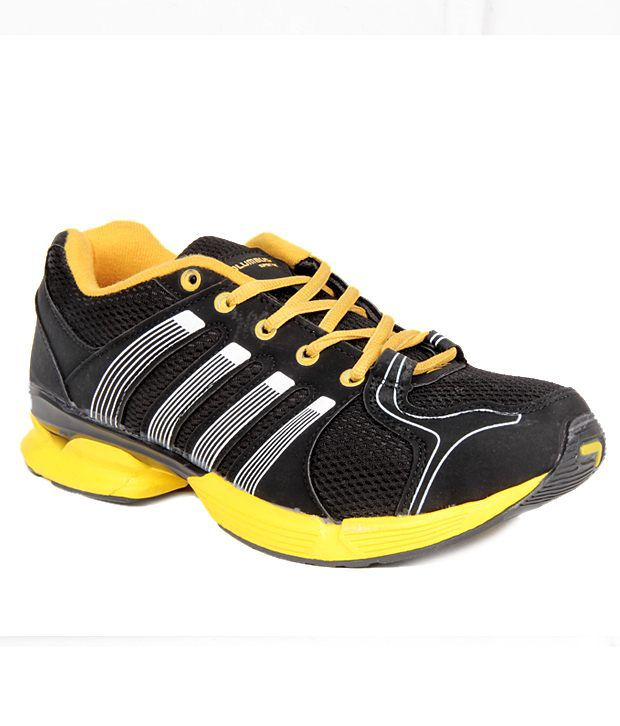 Columbus Tablet Black & Yellow Sports Shoes