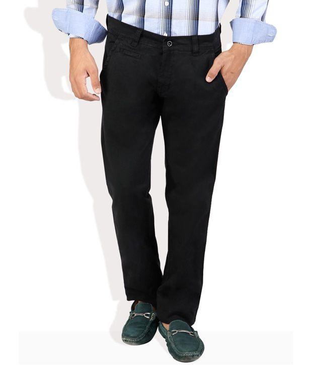 Monteil And Munero Black Cotton Trousers