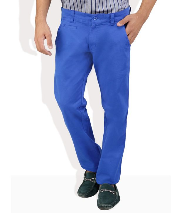Monteil And Munero Blue Cotton Trousers