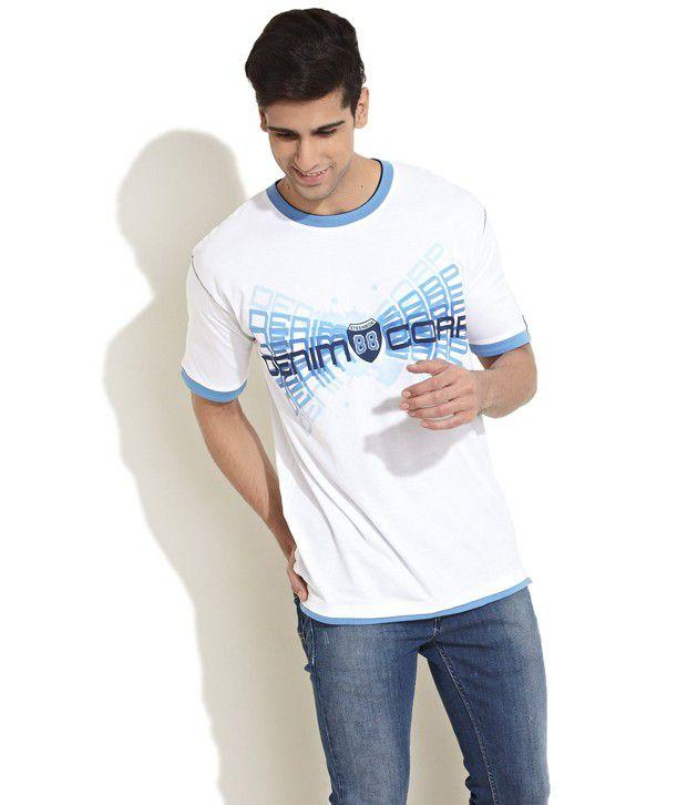 Steenbok White Printed T Shirt