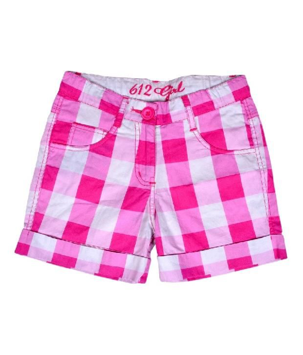 612Ivyleague Checkered Pink Shorts For Kids