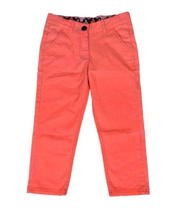 612Ivyleague Orange Capri For Kids