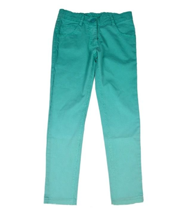 612Ivyleague Sea Green Pants For Kids