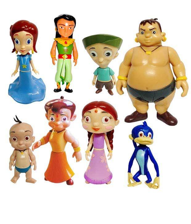 chhota bheem pack of 8 figures buy online rs productdealmodel