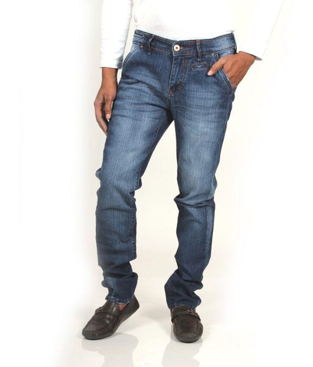 CODE 61 Stretchable Slim Fit Dark Blue Jeans