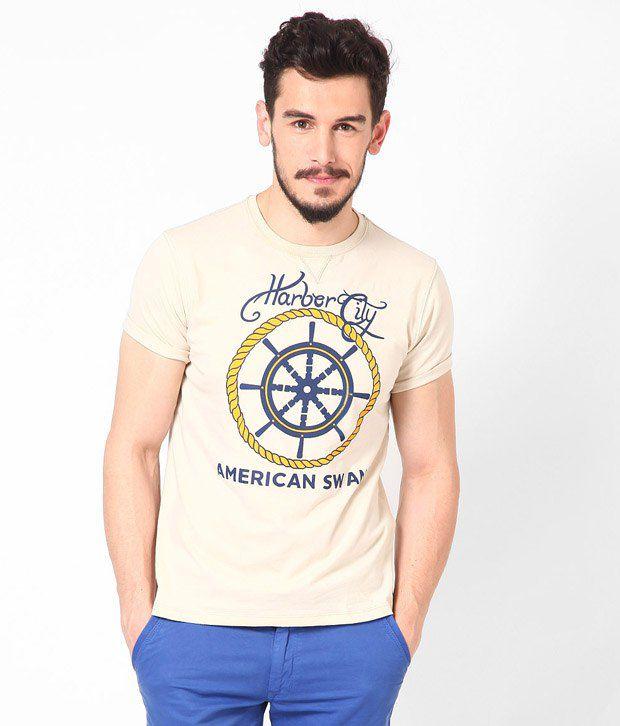 American Swan Camden Beige T Shirt