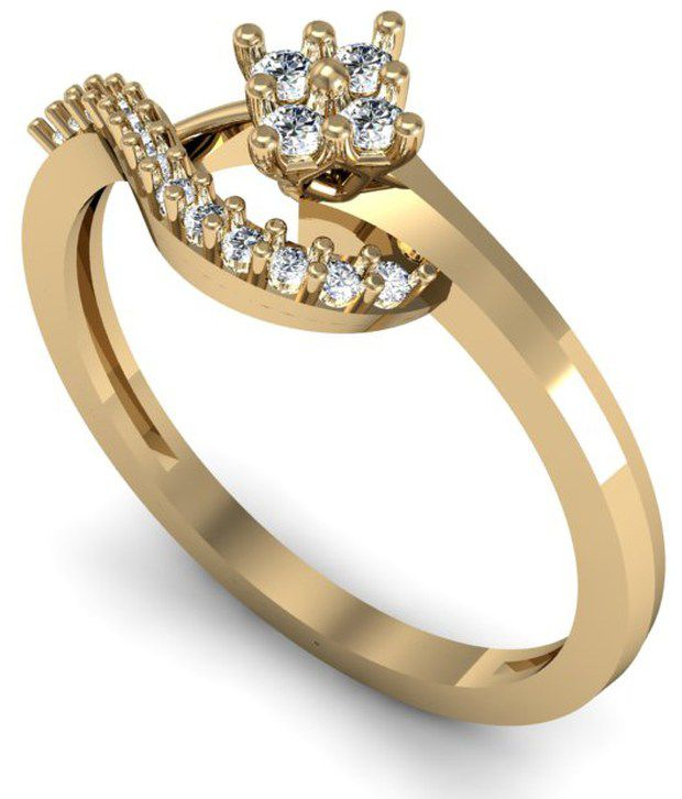 Spellbound Saanvi Diamond Ring  0.12cts of best quality diamonds  studded in 18kt Gold