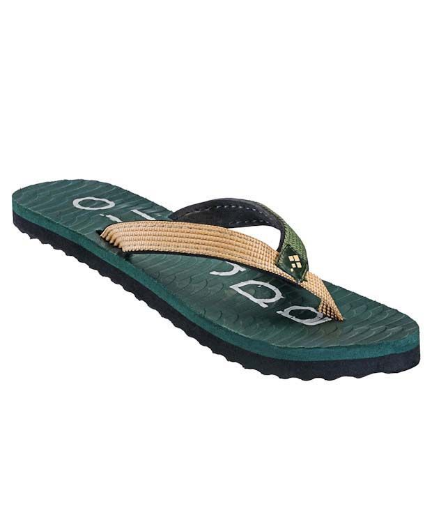 Adreno Stylish Green Flip Flops