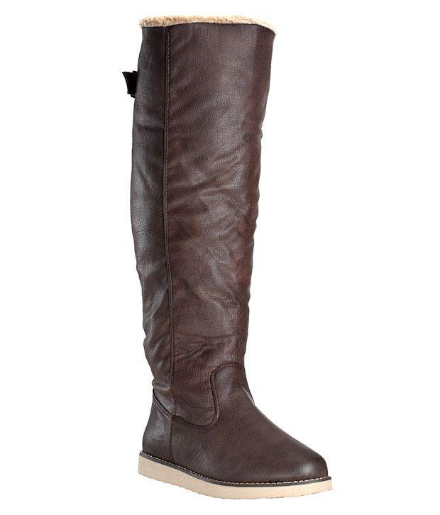 Carlton London Brown Knee Length Boots
