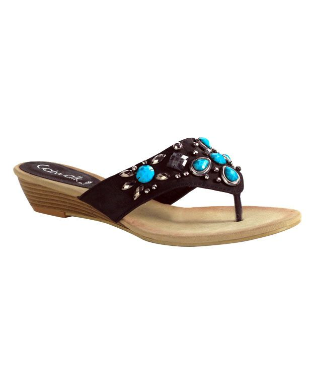 Catwalk Magnificent Black Sandals