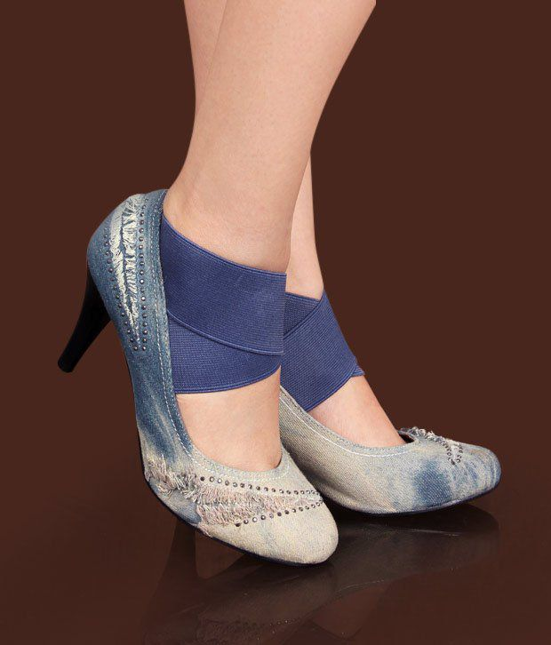 Catwalk Stunning Denim Blue Pump Shoes