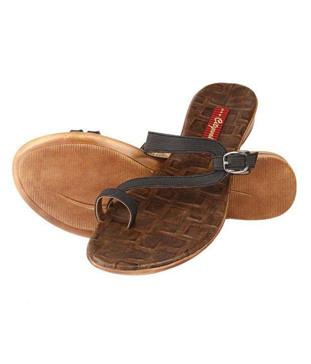 Citywalk Comfy Black Sandals
