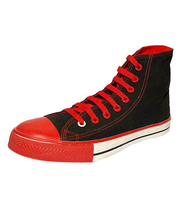 Converse Black   Red High Ankle Sneakers - Buy Converse Black   Red High  Ankle Sneakers Online at Best Prices in India on Snapdeal 694708019