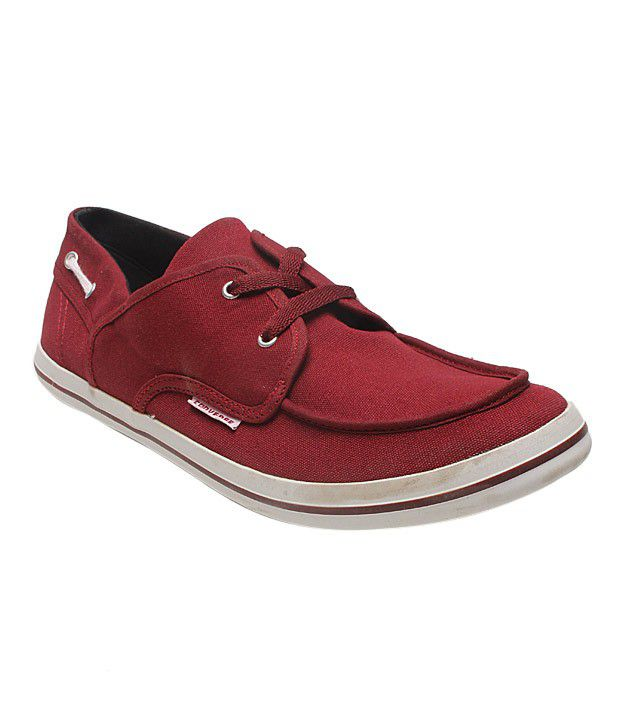 Converse Maroon Boat Shoes