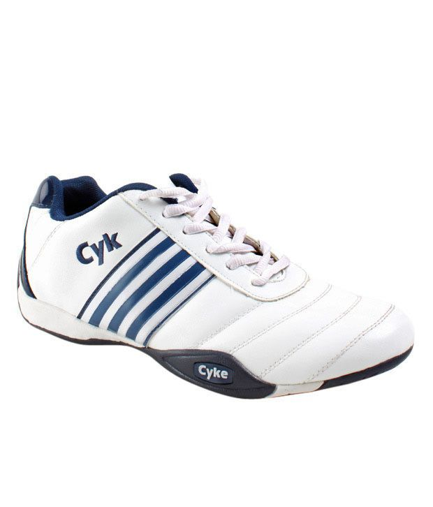 Cyke Enduring White & Blue Sport Shoes