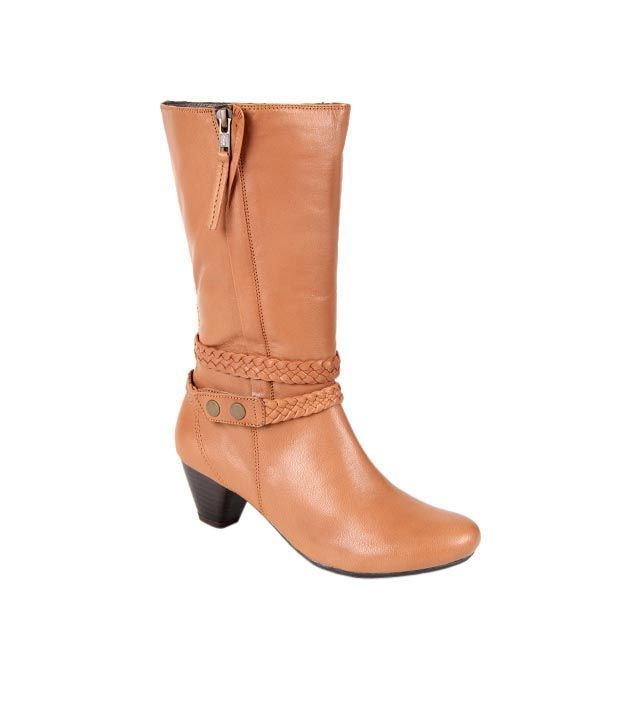 Euro Star Remarkable Tan Knee Length Boots