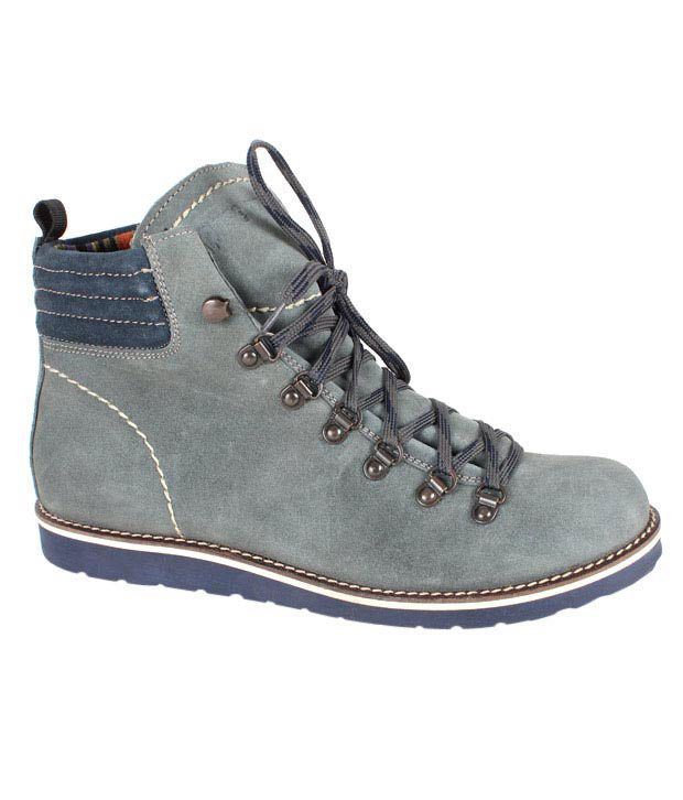 Expose Trendz Grey High Ankle Boots