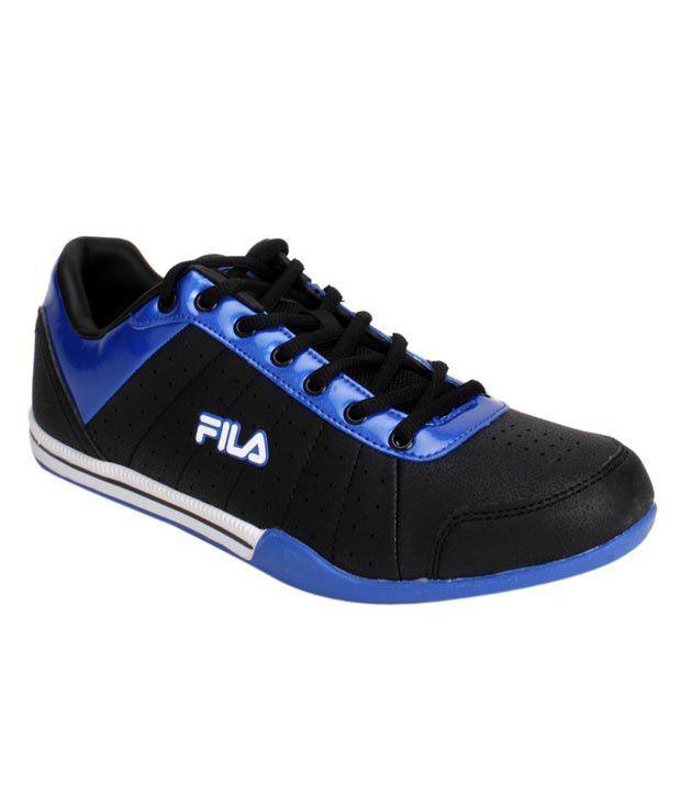 Fila Dynamo Black & Royal Blue Sports Shoes
