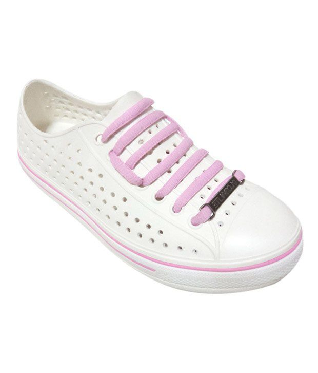 Globalite Spots White & Pink Casual Shoes