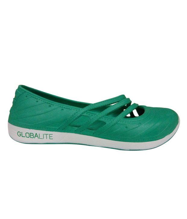 Globalite Xfit Aqua Green & White Casual Shoes