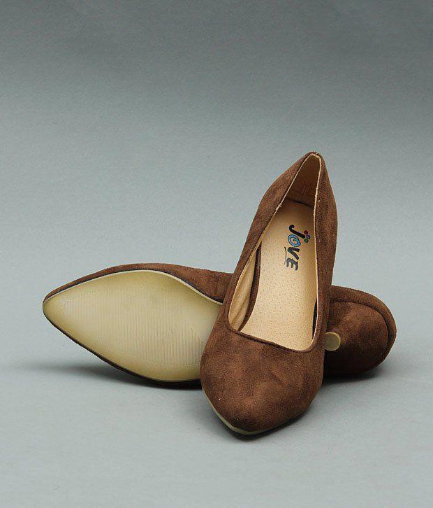Jove Chocolate Brown Ballerina