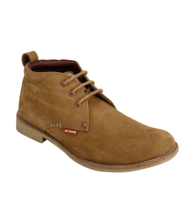 Lee Cooper Camel High Ankle Shoes