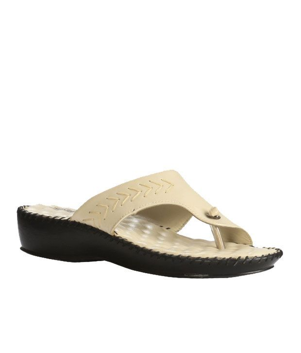 654025cf7ccd1 Liberty Cream Leather Comfy Doctor Sole Sandals Price in India- Buy Liberty  Cream Leather Comfy Doctor Sole Sandals Online at Snapdeal