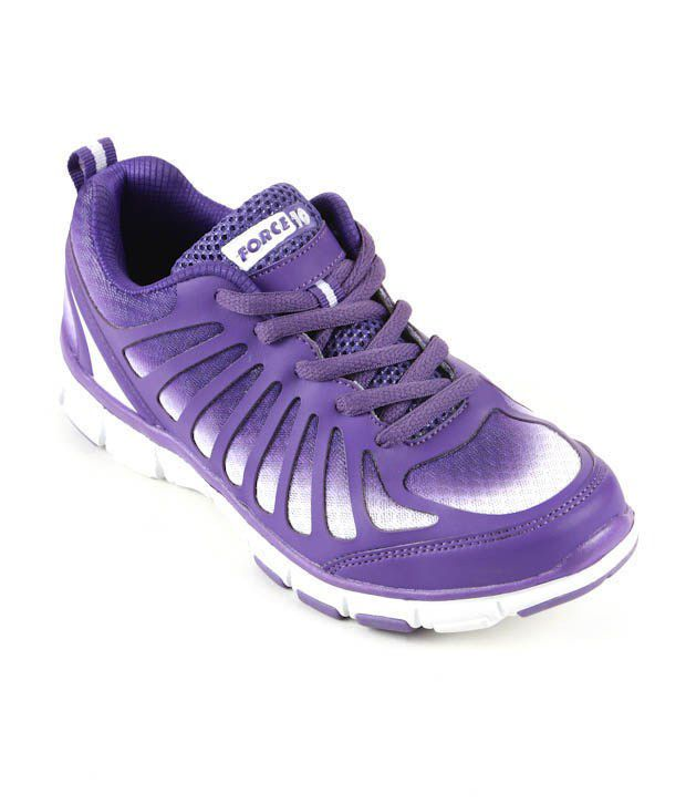 Force 10 Force10 Gripping Purple & White Sports Shoes