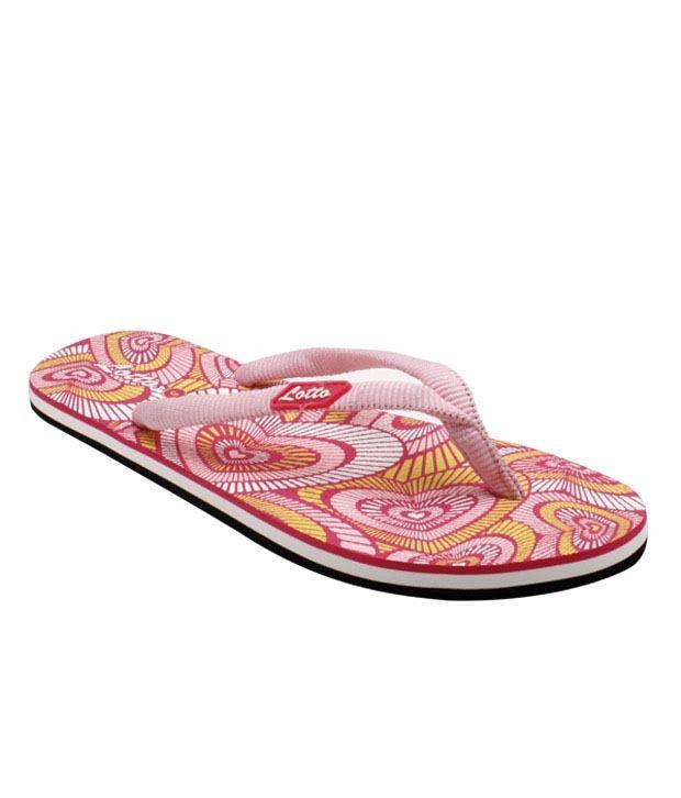 Lotto Baby Pink Discoholic Flip Flops