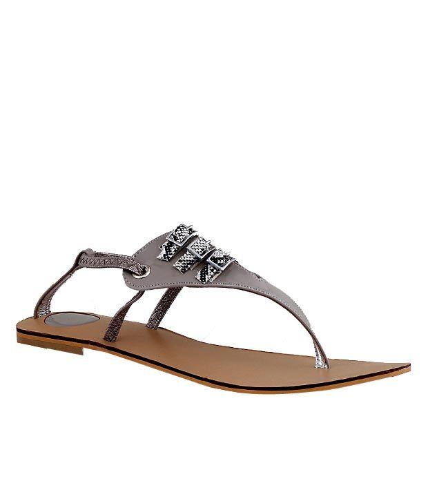Martini Gorgeous Grey Flat Sandals