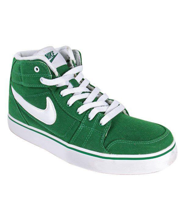 Nike Liteforce Mid Green High Ankle Sneakers