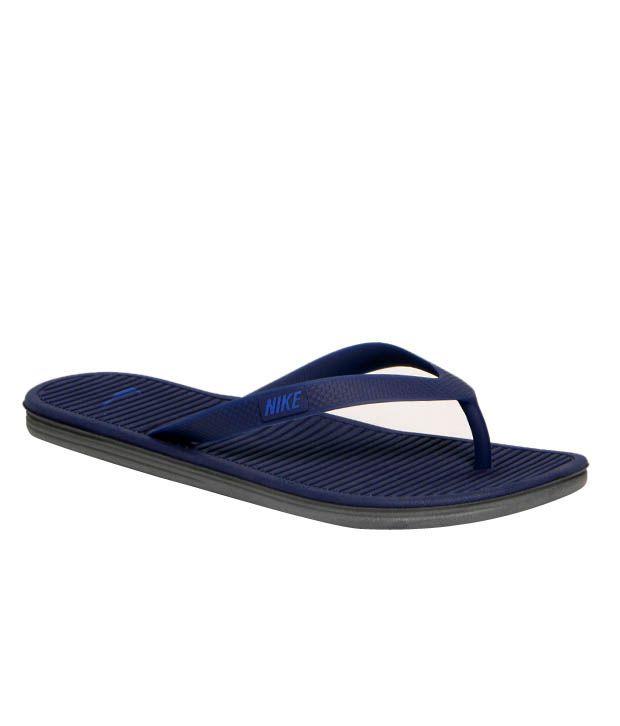 Nike Solarsoft Navy Blue Slippers