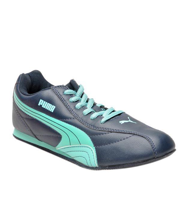 Puma Wirko Navy Blue & Green Casual Shoes