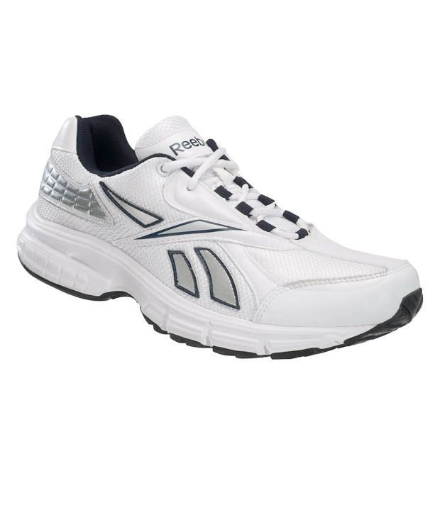Reebok Energy White & Silver Running Shoes