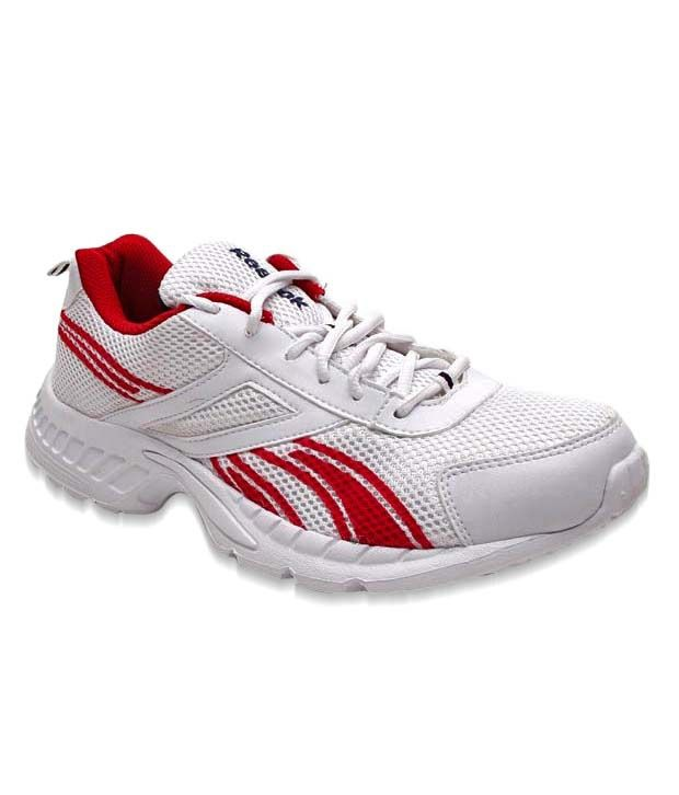 Reebok Enthusiastic White & Red Sports Shoes