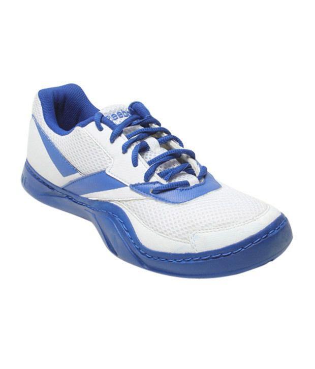 Reebok Field Effect White & Royal Blue Sports Shoes