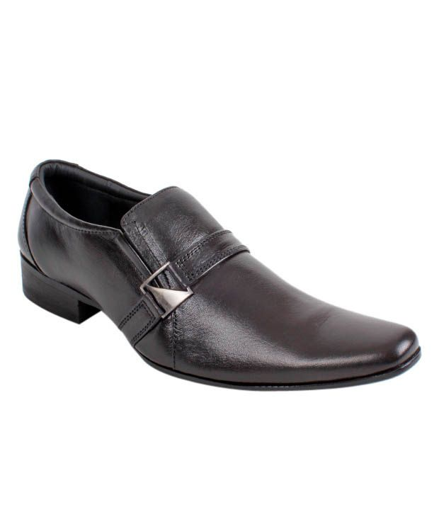 San Frissco Black Formal Shoes