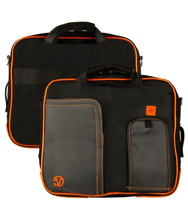 Black and Orange VanGoody Pindar Laptop Case for Samsung NP530U3B-A02IN ..