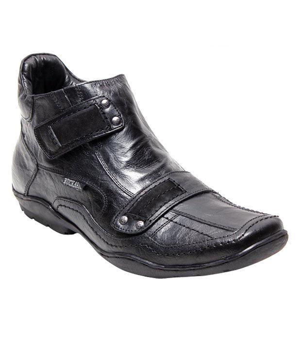 Buckaroo Stylish Black High Ankle Shoes