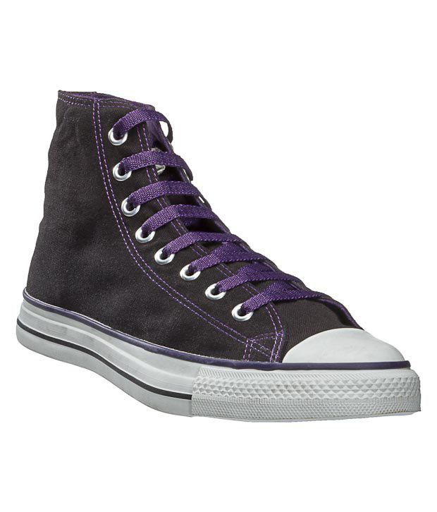 Converse Black  & Purple Sneaker Shoes