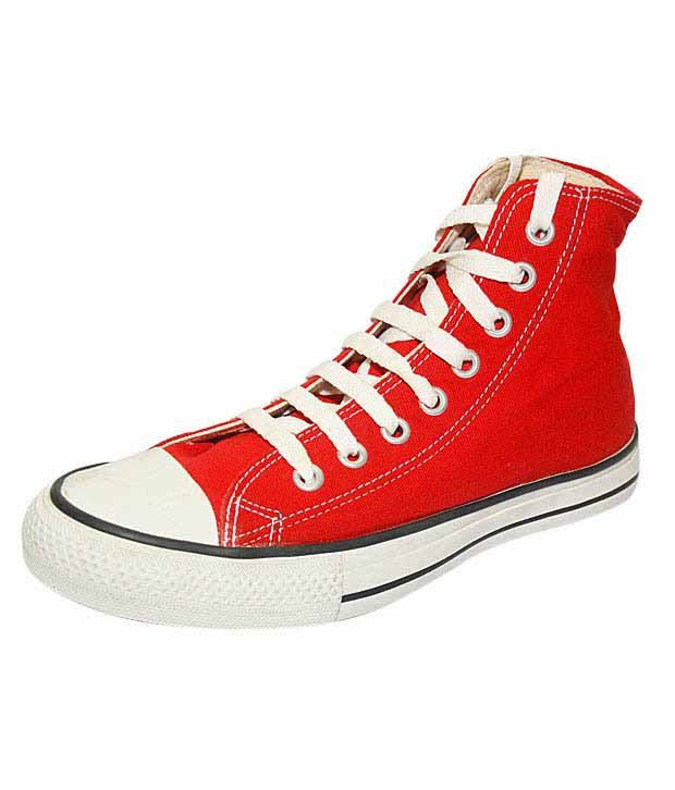 Converse Red High Ankle Sneakers