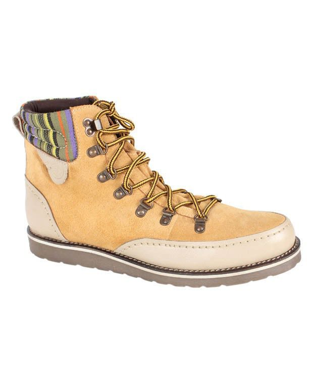 Expose Trendz Gusty Light Brown High Ankle Boots