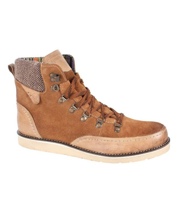 Expose Trendz Gusty Tan High Ankle Boots