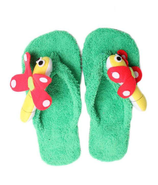 FNB-Nell Stylish Green Slippers