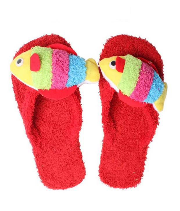 FNB-Nell Vibrant Red Slippers