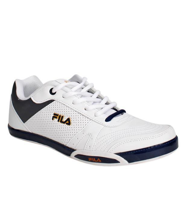 Fila Gusto White & Navy Blue Sports Shoes