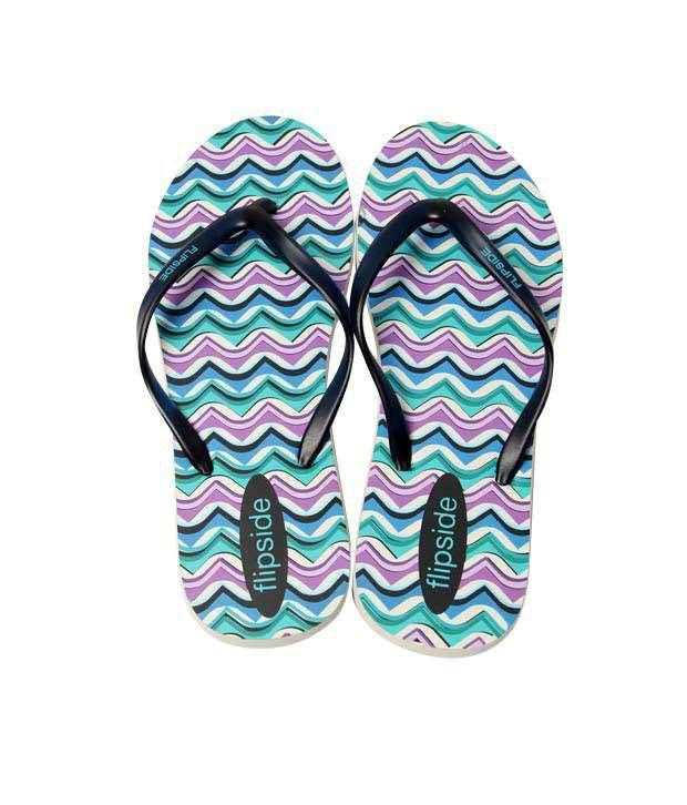 Flipside Wavy Blue Flip Flops