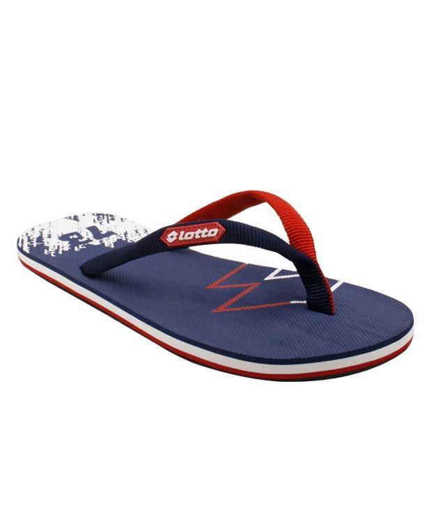 Lotto Navy Blue & Red Campione Flip Flops