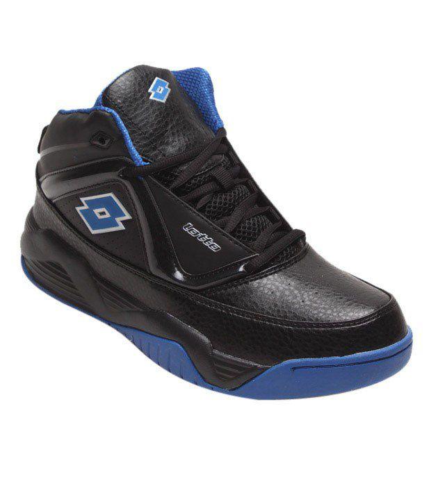 Lotto Tough Black & Blue Sports Shoes